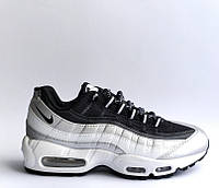 Женские кроссовки Nike Air Max 95 Silver Black (Реплика ААА+)