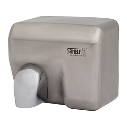 Автоматична безконтактна сушарка для рук з матовою нержавіючою сталлю