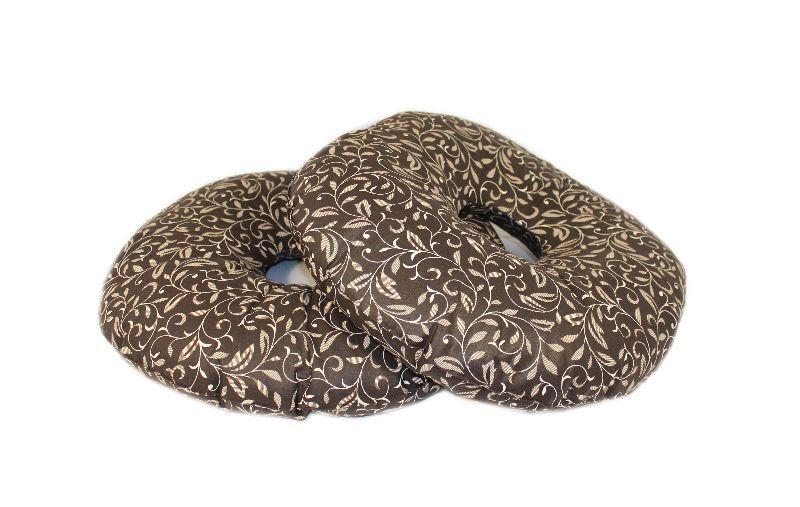 Подушка-кольцо от геморроя 10х35 см,тк.Голд (с гречневой шелухой)