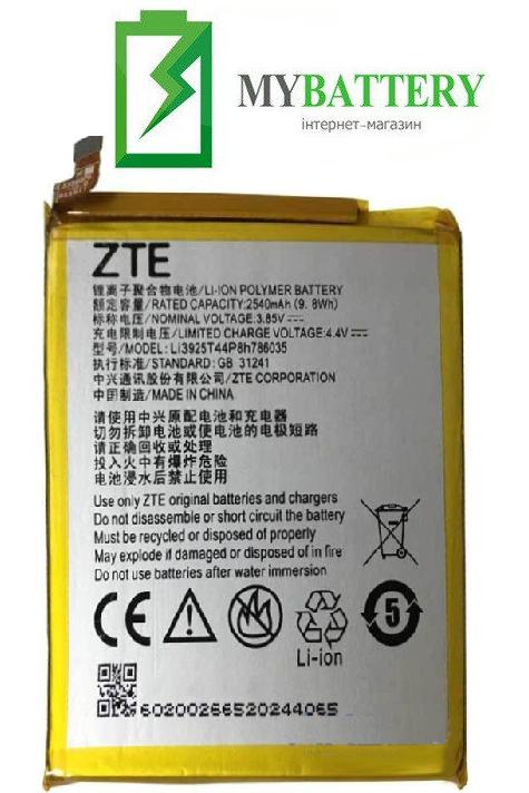 Оригинальный аккумулятор АКБ батарея ZTE Blade A910/ BA910/ Blade V7/ Li3925T44P8h786035 2540mAh 3.85V