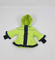 Куртка весна-осень код DL-B2, размеры 86-110 (1-4 лет), лимон, фото 1