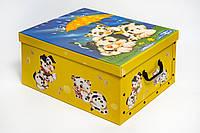 Коробка картонная с пластиковыми ручками Evoluzione 40 х 50 х 25 см Собачка и Котенок под зонтиком (14)