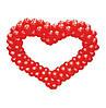 Сердце из шариков, красное