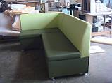 """Кухонный уголок с спальным местом """"Мария"""" зеленый витрина 21, фото 4"""