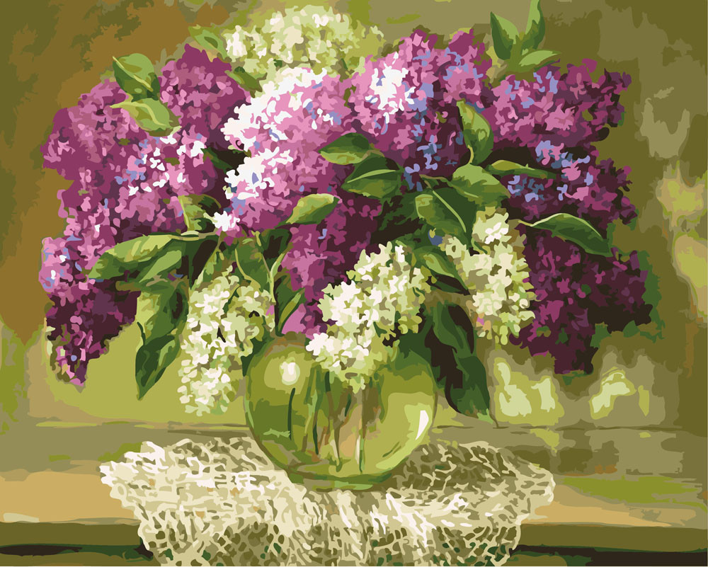 Картина по номерам Разноцветная сирень, 40x50 см., Rainbow art