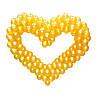 Сердце из шариков, золотое