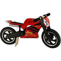 """Беговел 12"""" Kiddi Moto Heroes деревянный, с автографом Joey Dunlop TT"""