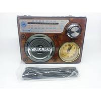 Радиоприемник колонка часы MP3 Golon RX-722LED Wooden