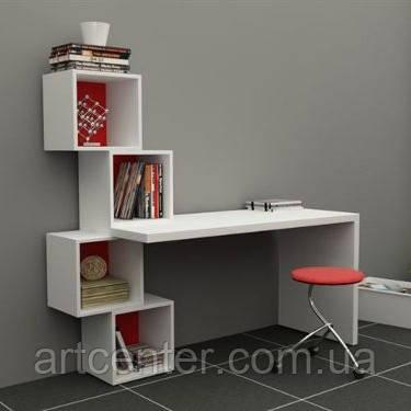 Стіл білий з ДСП для офісу, дизайнерський стіл