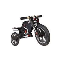 """Беговел 12"""" Kiddi Moto Heroes деревянный, с автографом Jorge Lorenzo, чёрный"""