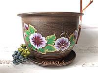 Цветочный горшок с подставкой 5 литров, фото 1