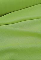 Льняная костюмная ткань салатного цвета