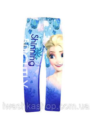 Эластичные лосины, леггинсы Frozen, Холодное сердце на девочек 7 - 8 лет, р. 128, Disney