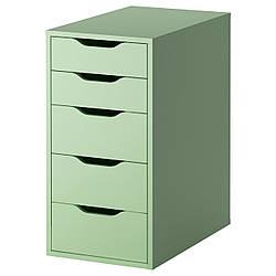 АЛЕКС Тумба с ящиками, светло-зеленый, 36x70 см 70277759 IKEA, ИКЕА, ALEX