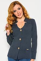 Женский пиджак на пуговицах (синий) 82284