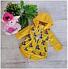 Куртка весна-осень код-2016, размеры 86 см-104 см, желтый миккиМаус