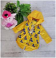 Куртка весна-осень код-2016, размеры 86 см-104 см, желтый миккиМаус, фото 1