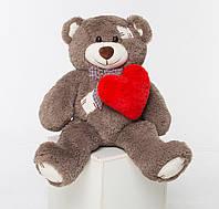 Мягкая игрушка медведь с латками 150 см + сердце