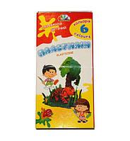 Пластилин ГАММА Увлечение 331008, 6 цветов