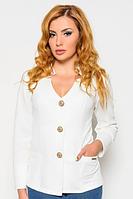 Модный пиджак v-вырезом (белый) 82285