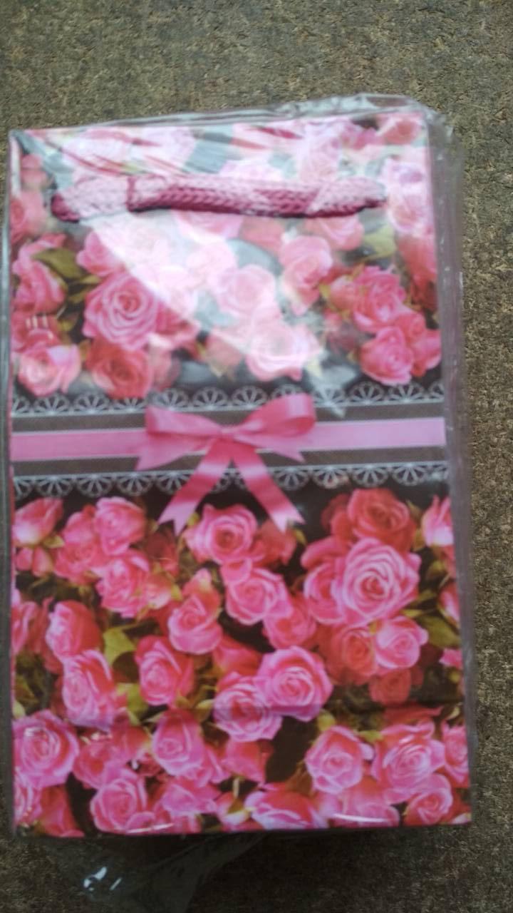 Подарочный бумажный пакет МИНИ 8*12*3.5 см Ленточка