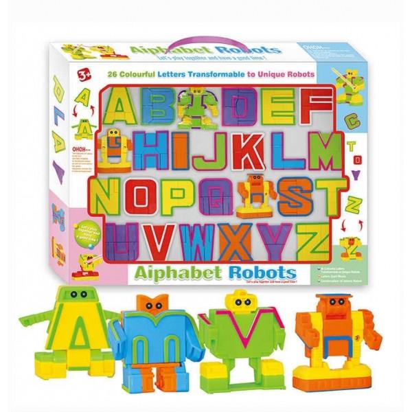 """Игрушечные роботы-трансформеры """"Алфавит"""" 500-22, английский язык"""