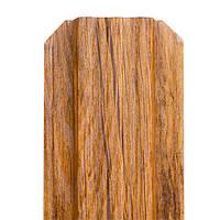 Штакет металлический Printex Золотой дуб Crystal, 115 мм