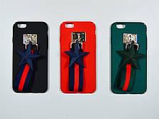 Накладка Star с ремешком iPhone 6/6s black