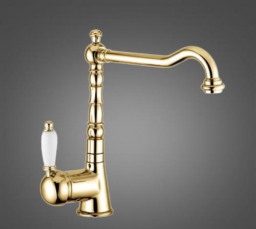Смеситель для кухни EMMEVI LAGUNA OR40517A золото керамика