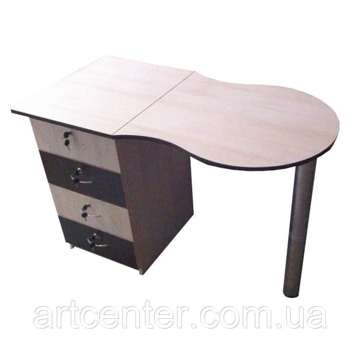 Маникюрный стол  стандарт складной, с одной тумбой