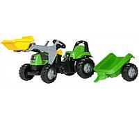 Трактор педальный с прицепом Rolly Toys Deutz-Fahr Kid 23196