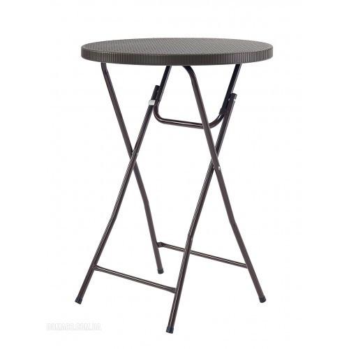Складной пластиковый барный стол  80 см PLTR-8103