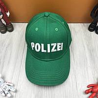 Стильная кепка Vetements Polizei зеленая унисекс хлопковая коттоновая женская мужская бейсболка люкс реплика