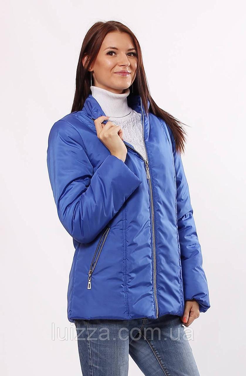 Голубая куртка женская осень-весна 32-72