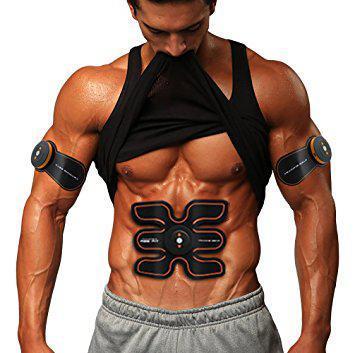 Пояс EMS TRAINER стимулятор мышц пресса + 2 бабочки на бицепс