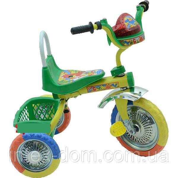 Триколісний велосипед Profi Trike B 2-1 / 6010G (Зелений)