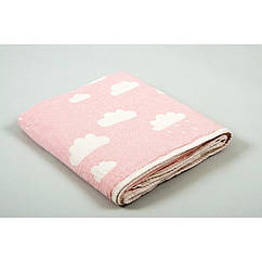 Детский плед накидка Barine  Cloud Throw Pink 130*170 розовый (8681694005926)