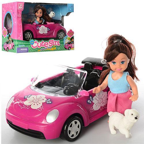 Кукла с машиной и собачкой K899-14