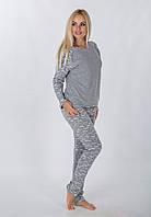 Пижама брюки + кофта Серый