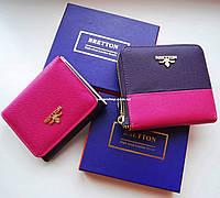 edb0fcf9d7ff Выбор. Яркий кожаный кошелек BRETTON для девушек. Женский кожаный бумажник.  Женское портмоне в