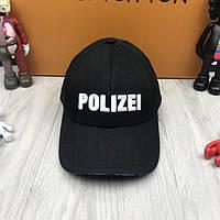 Модная кепка Vetements Polizei черная унисекс хлопковая мужская женская  коттоновая бейсболка люкс реплика 93ce0ecaba0fe