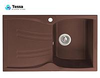 Мойка кухонная гранитная Tessa Briz шоколад 50004