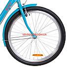 Городской велосипед Dorozhnik Ruby PH 26 дюймов лазурный, фото 3