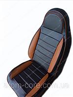 Чехлы на сиденья Ауди А4 (Audi A4) (универсальные, кожзам, пилот СПОРТ)