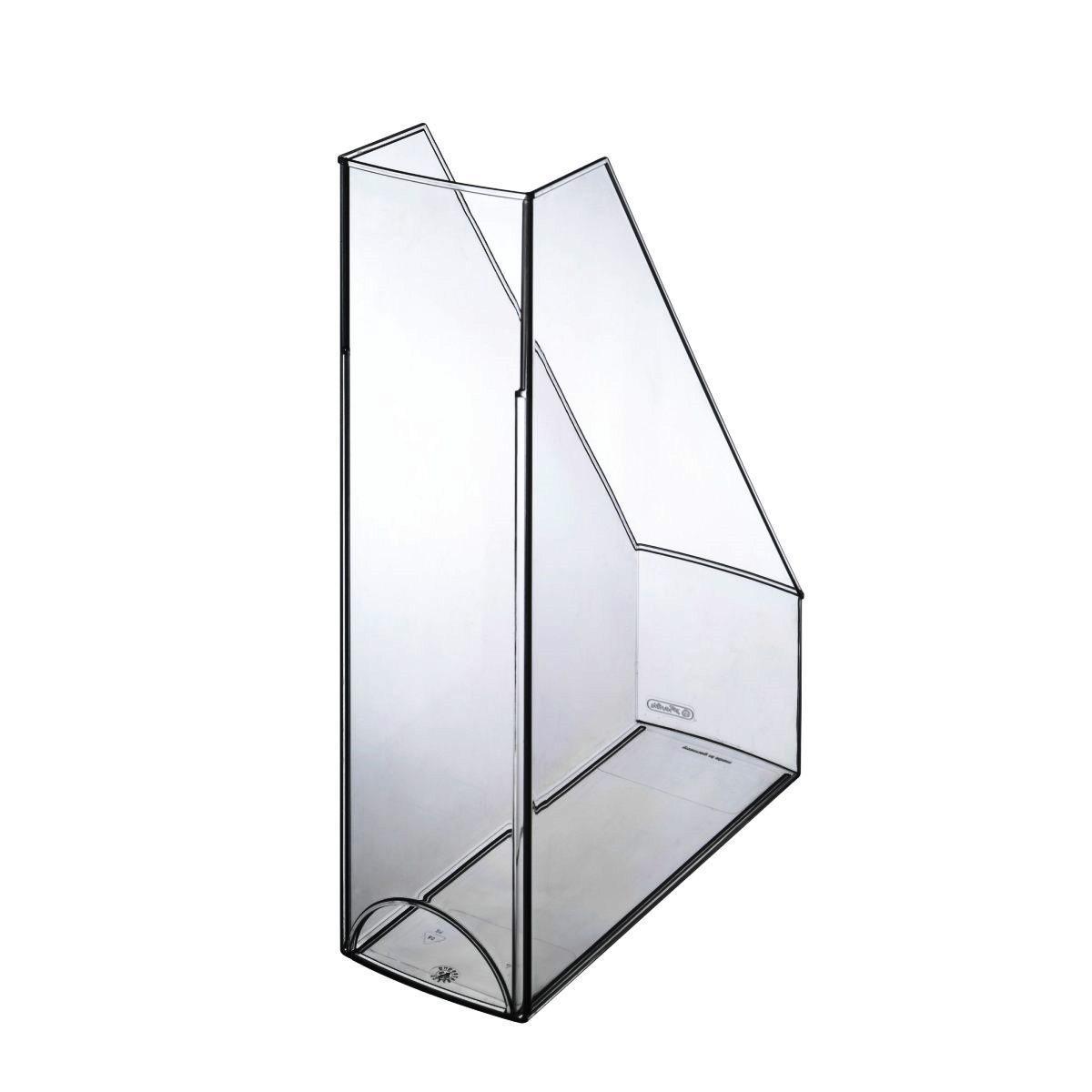 Лоток для бумаг вертикальный Herlitz Premium 8.5см глянцевый прозрачный