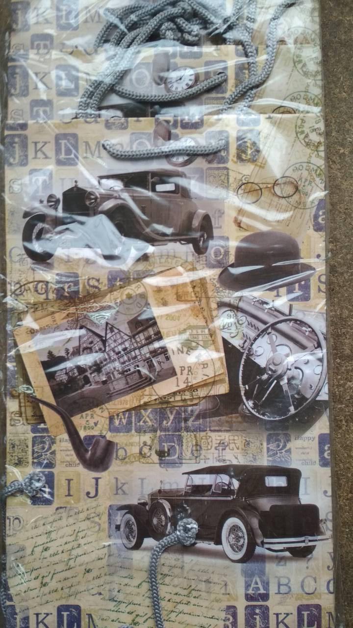 Подарочный пакет СРЕДНИЙ ''Машины'' 17*26*8 см
