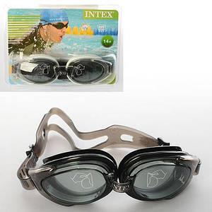 Очки для плавания Intex 55685 антизапотевающие, черные