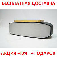 Портативная переносная колонка New Rixing NR-2014 2*3W Bluetooth SILVER акустика беспроводная мобильная       , фото 1