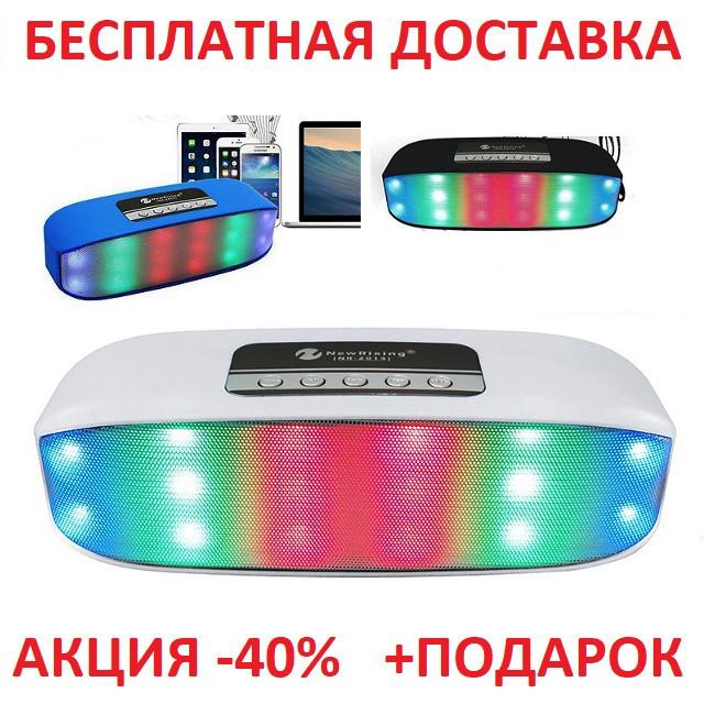Портативная переносная колонка New Rixing NR-2014 2*3W Bluetooth Блютуз акустика беспроводная мобильная