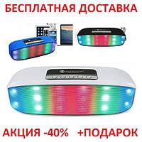 Портативная переносная колонка New Rixing NR-2014 2*3W Bluetooth Блютуз акустика беспроводная мобильная       , фото 1